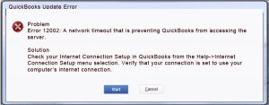 Quickbooks error 12002