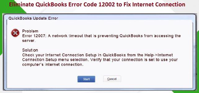 Troubleshooting methods to resolve Quickbooks Error 12002