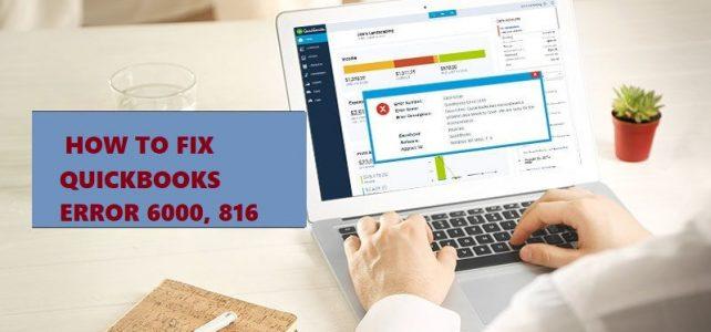 Quickbooks error 6000 816